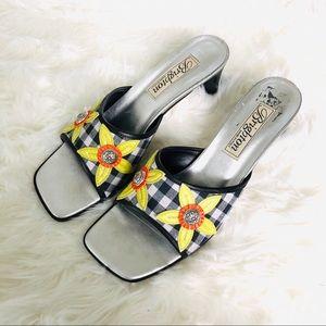 Brighton  Vintage Giingham Sandals Size 8.5